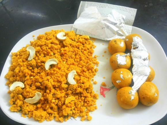 making laddu