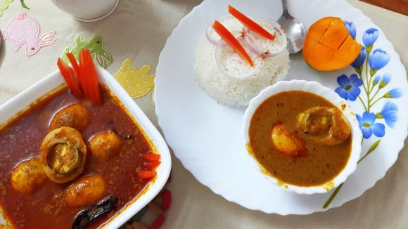 Anda (egg) curry