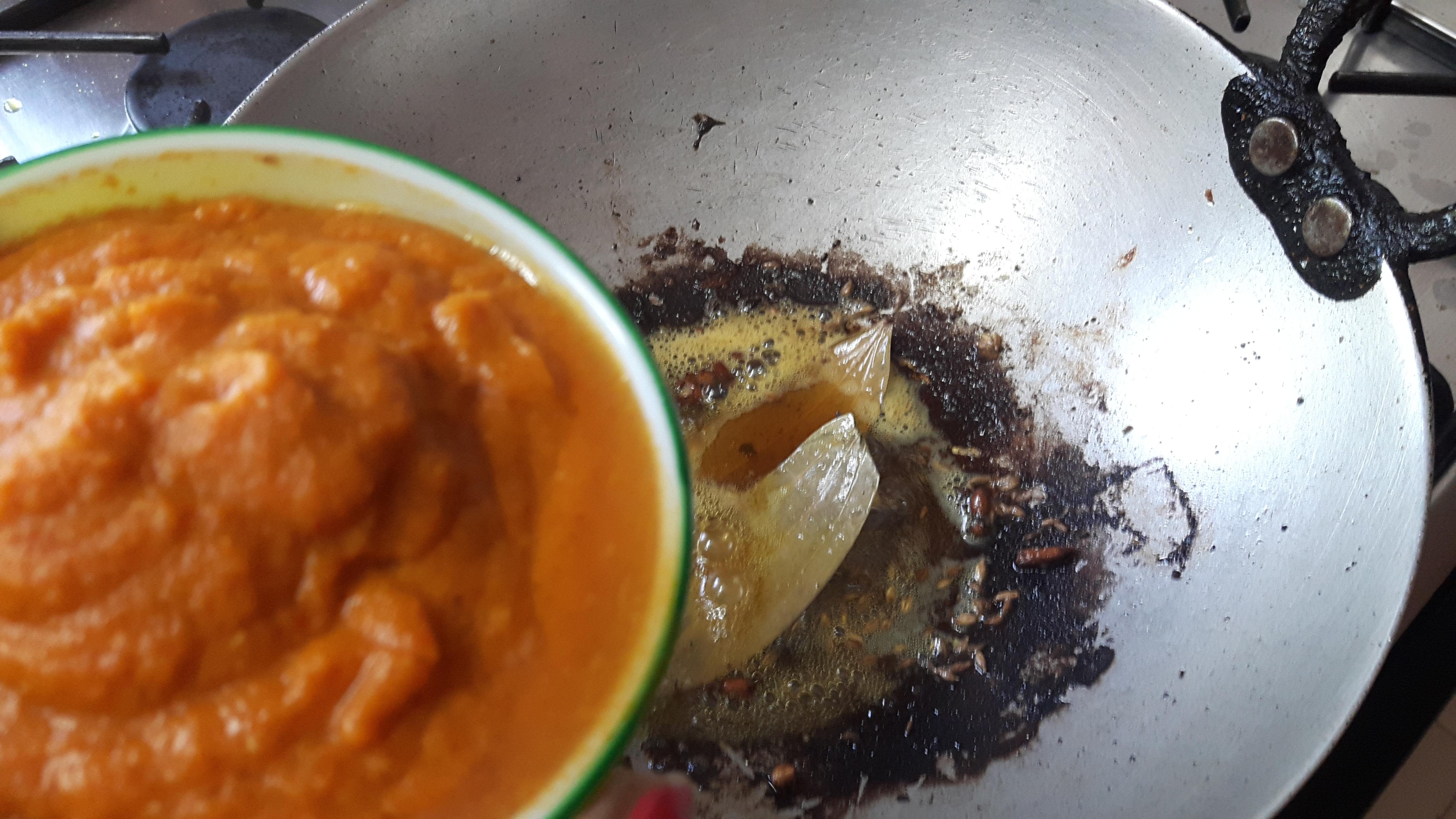 Add onion and tomato paste
