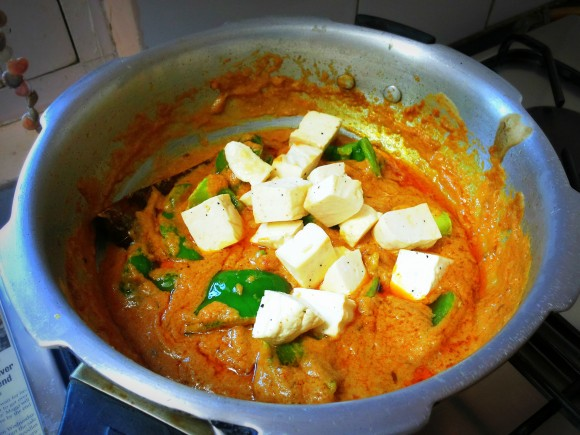 Add fried paneer