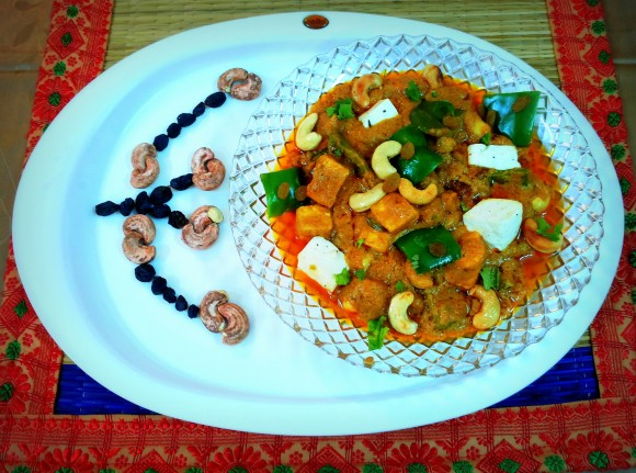 Shahi (Royal) paneer (cottage cheese/fresh cheese) masala