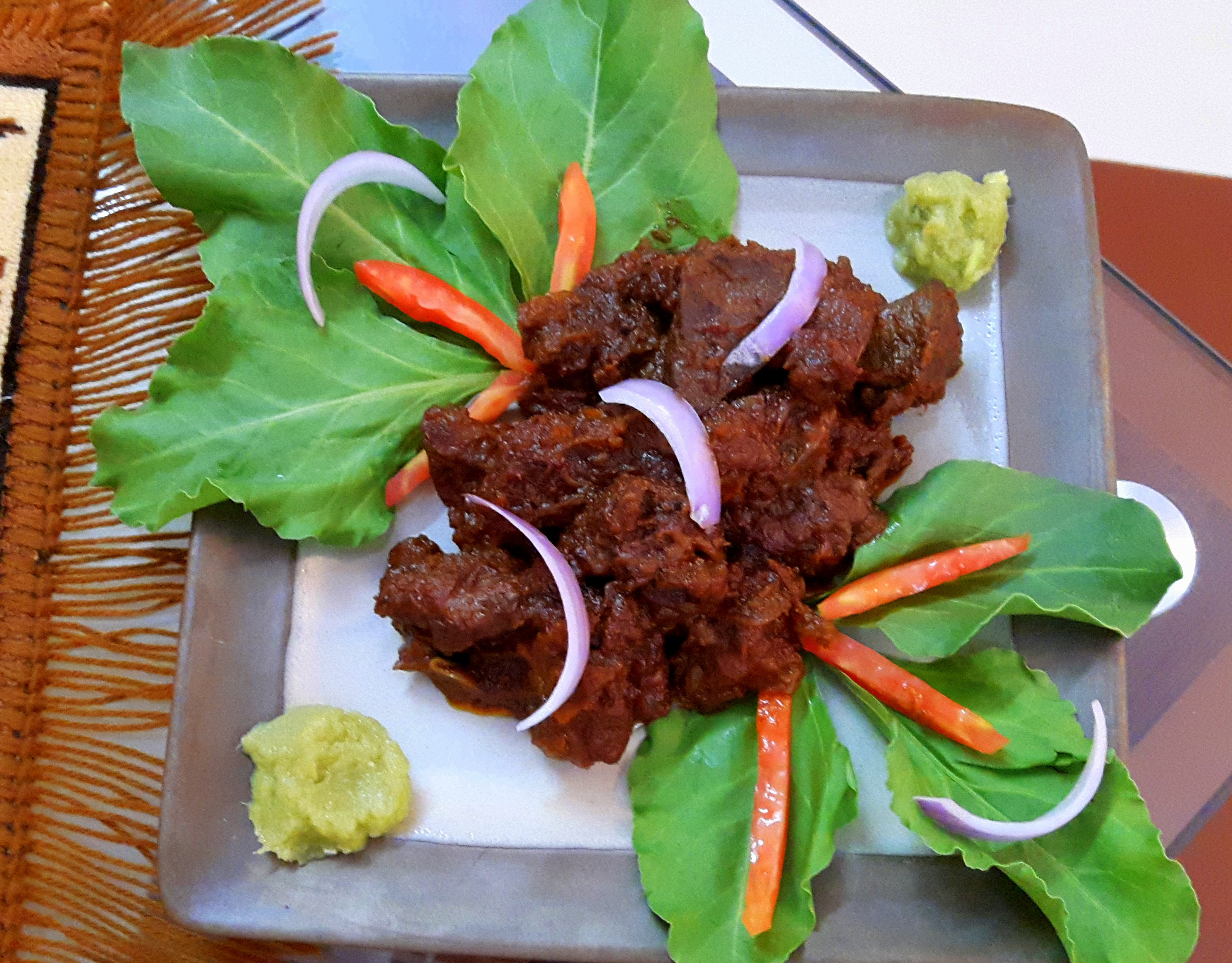 Roasted mutton (dry mutton)