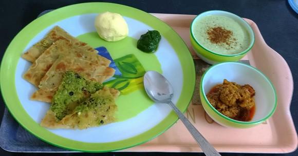 mutter(peas) paratha