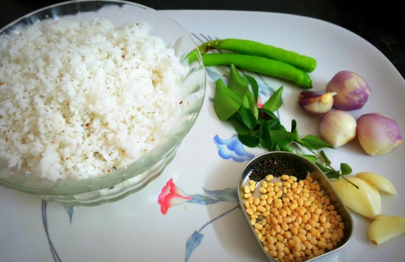 Ingredients of Coconut chutney