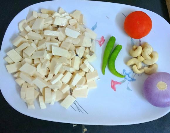 Ingredients of Fresh green coriander Paneer