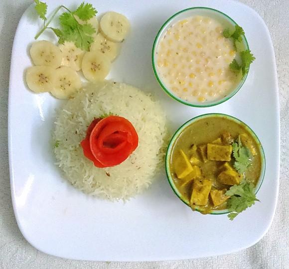 Fresh green coriander Paneer