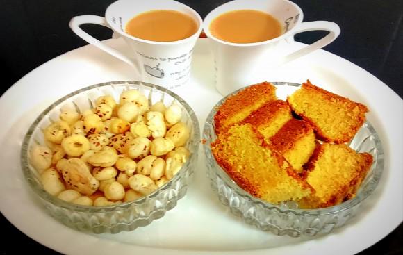 Malai /fresh cream elaechi (Green cardamom) cake