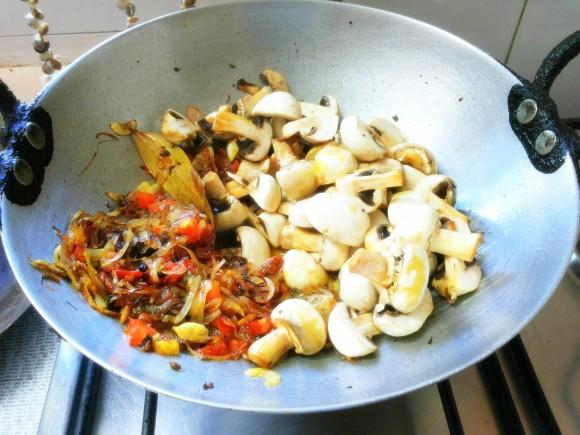 adding mushroom