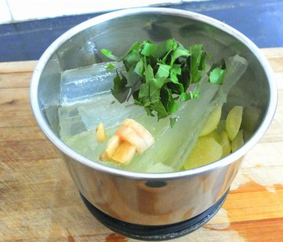 all ingredients into grinding jar
