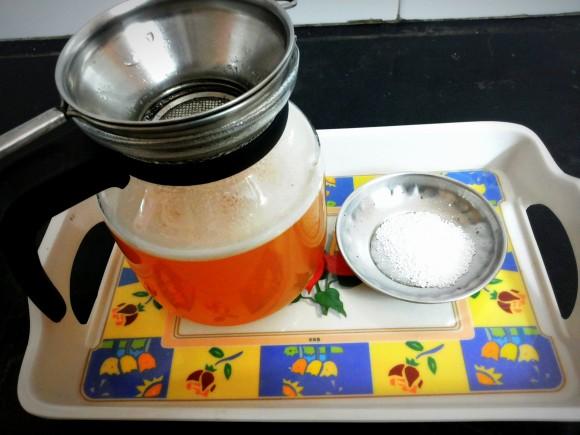 strain again with tea strainer