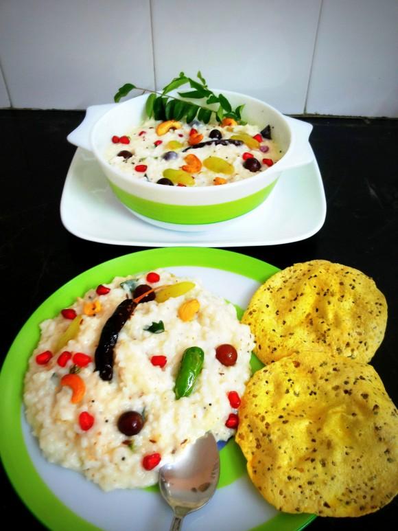 Curd/yoghurt rice (Thayir sadam)