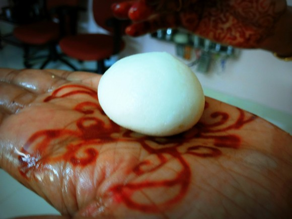 Make the lemon size ball