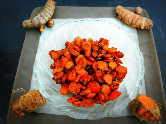 Raw turmeric fry/ bhujia