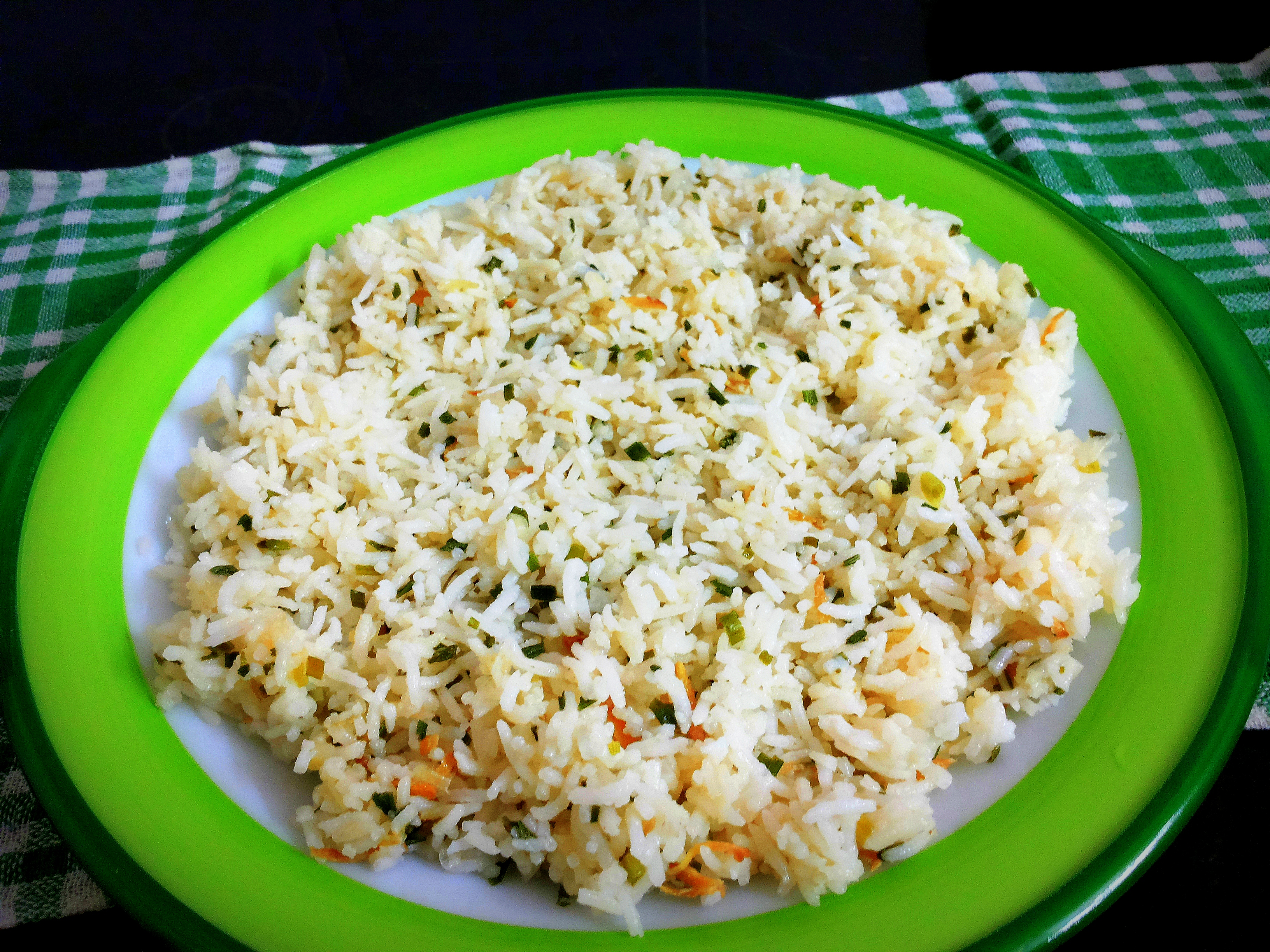 ... and carrot stir-fry with ginger fried rice. | Indian Cooking Manual