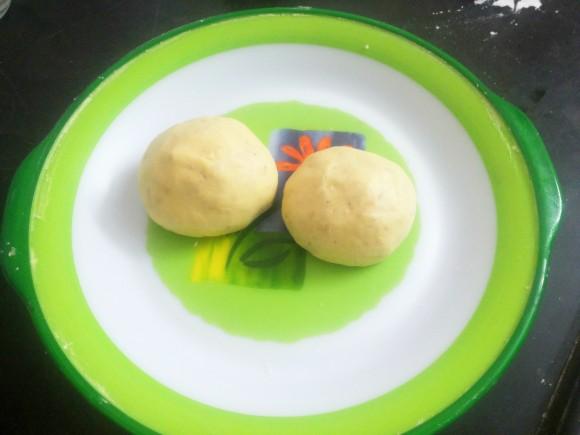 Divide dough into 2 parts