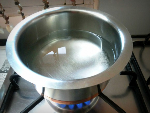 Boil 3 cups of water