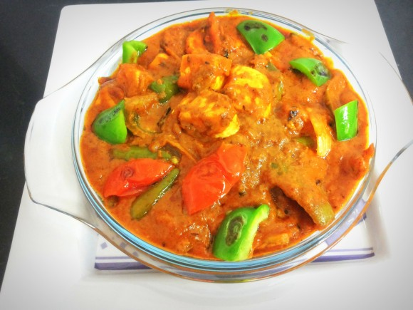 Paneer (cottage cheese) tikka masala