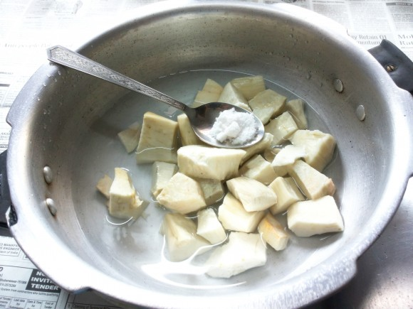 Boil tapioca with half teaspoon of salt