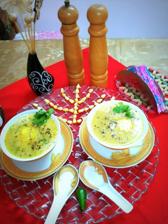 Fresh Sweet corn soup