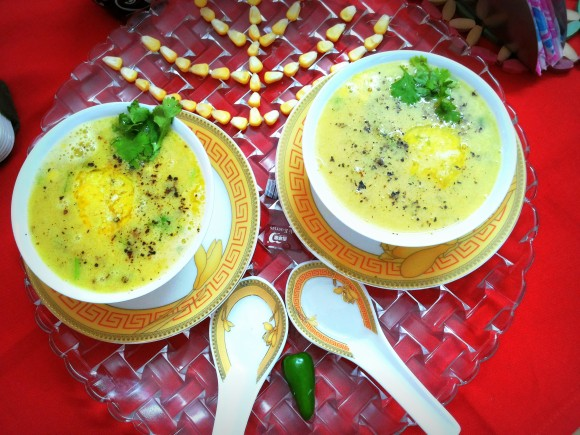 Fresh Sweet corn soup