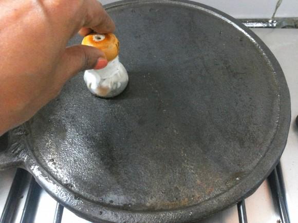 apply few drops of oil