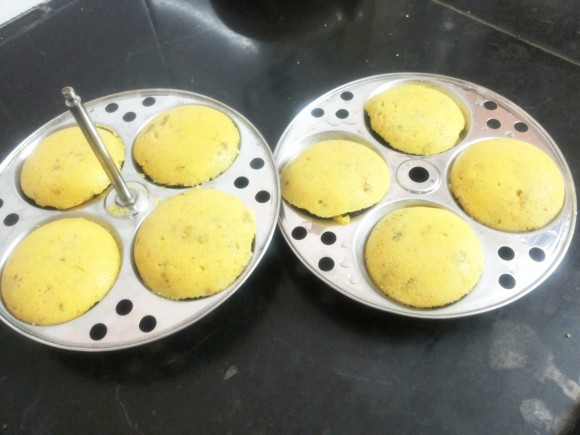 Rava/Sooji (semolina) idli (south Indian dish)
