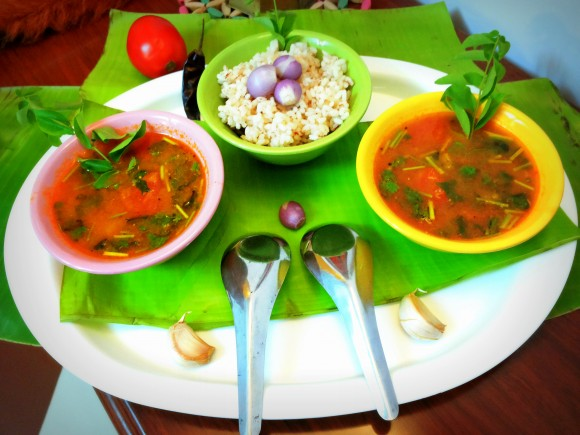 Pear rasam (south Indian dish)