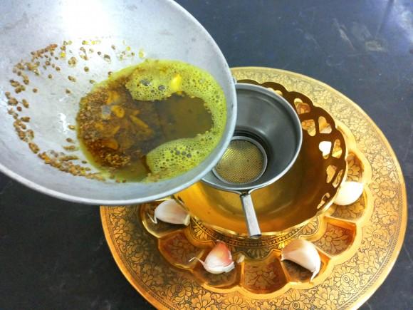 Pass this oil through sieve
