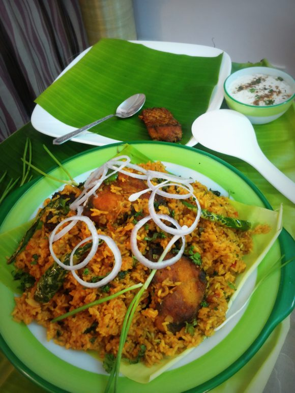 Fish biryani (fish tahari /fish pulao)