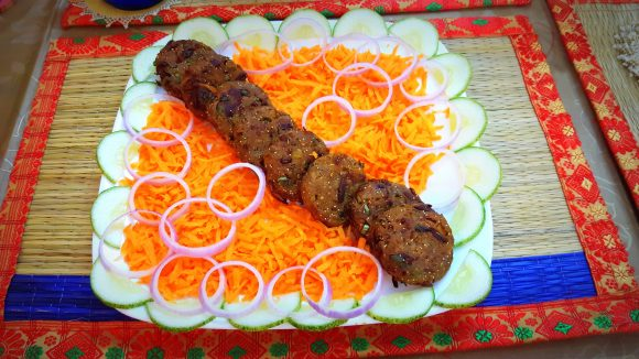 Katahal (raw jack fruit) kabab