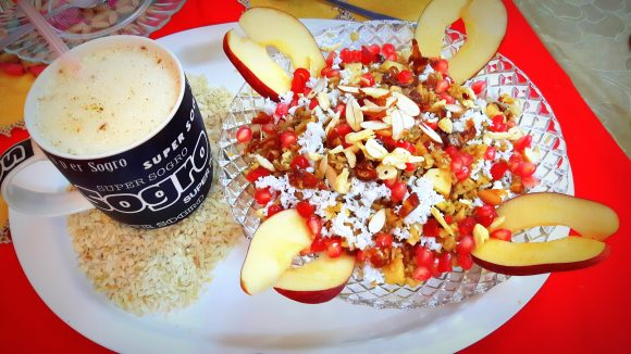 Healthful Sweet poha (sweet beaten rice)