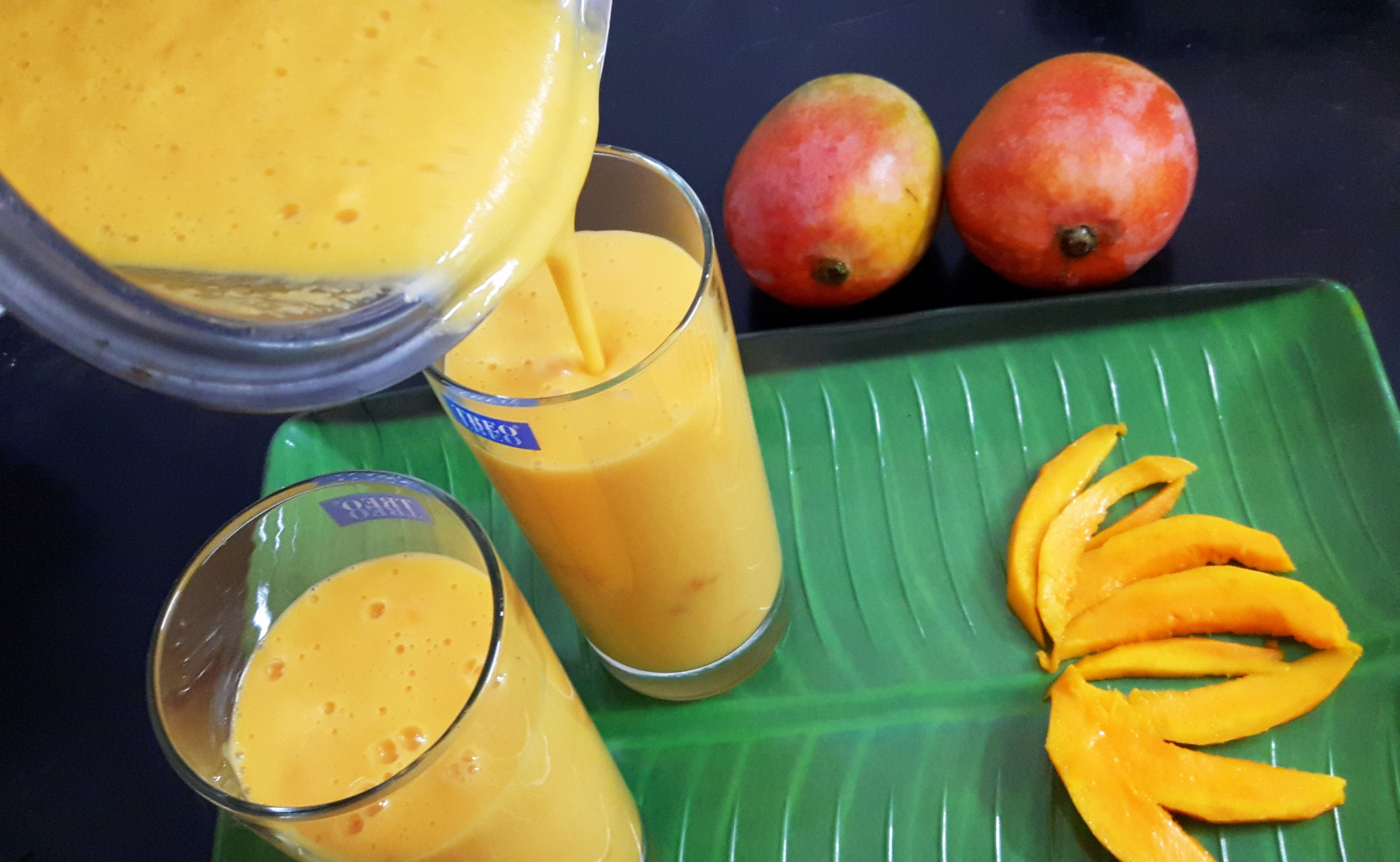 Sweet mango lassi (sweet mango yogurt drink) | Indian Cooking Manual