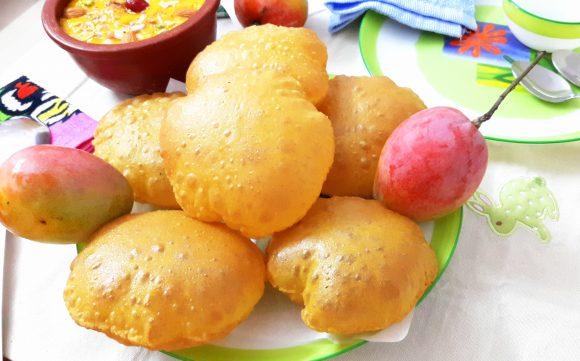 Aam poori (mango puri)
