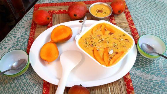 Mango kheer (phalahari recipe)