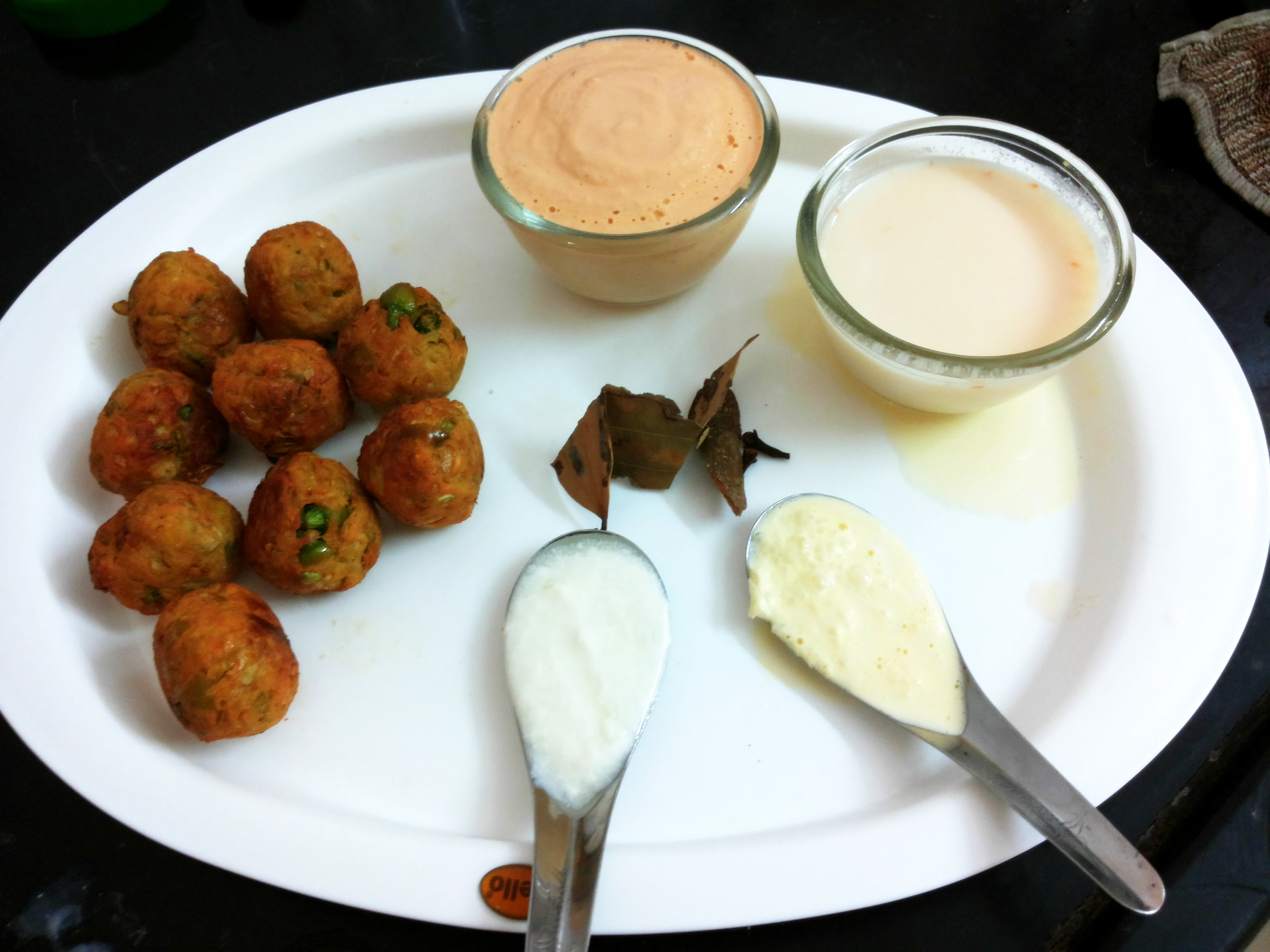 fried kofta with grind paste