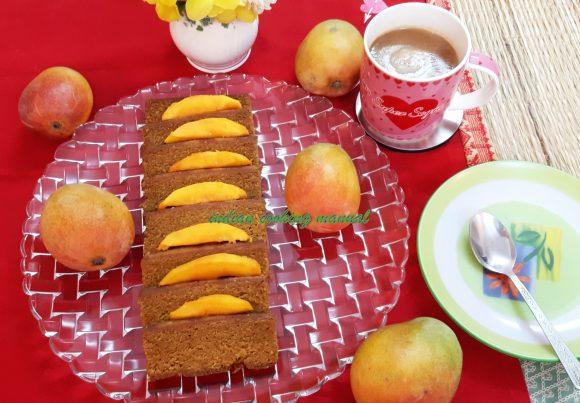 Mango Sooji/rava cake (eggless)