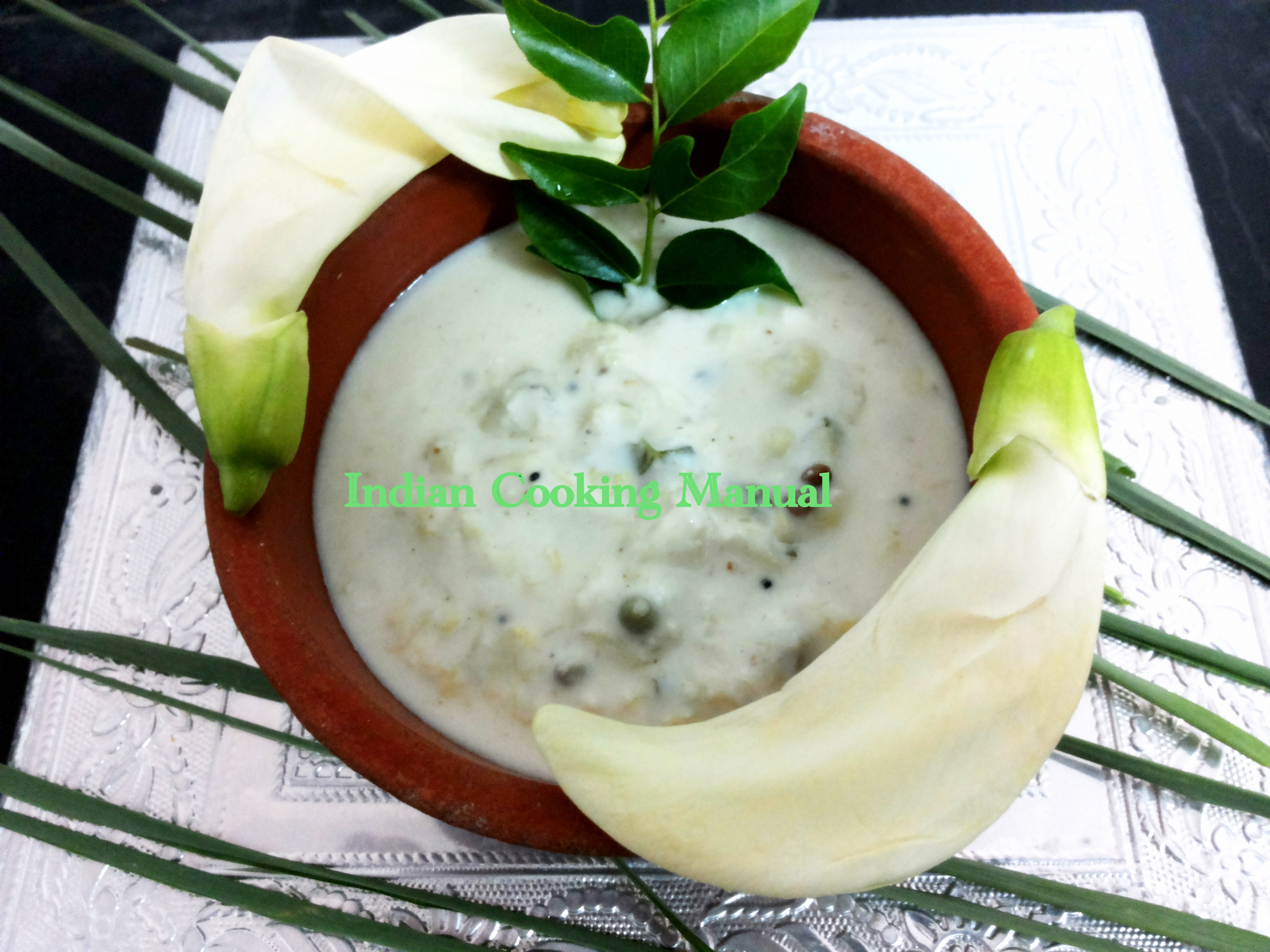 August flower raita /pachdi (from south India)