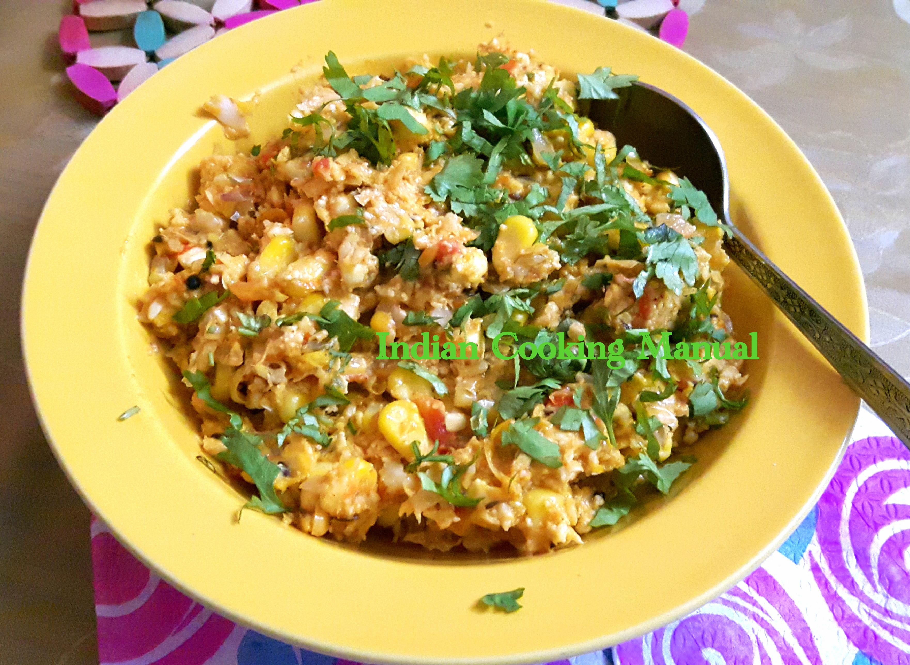 Corn paneer bhurji