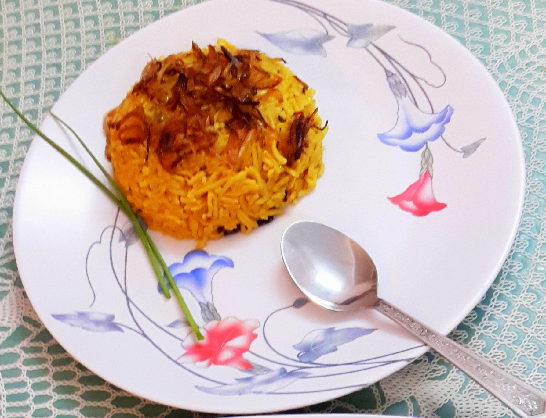 Brinjal/egg plant biryani (baigan tahari / pulao)