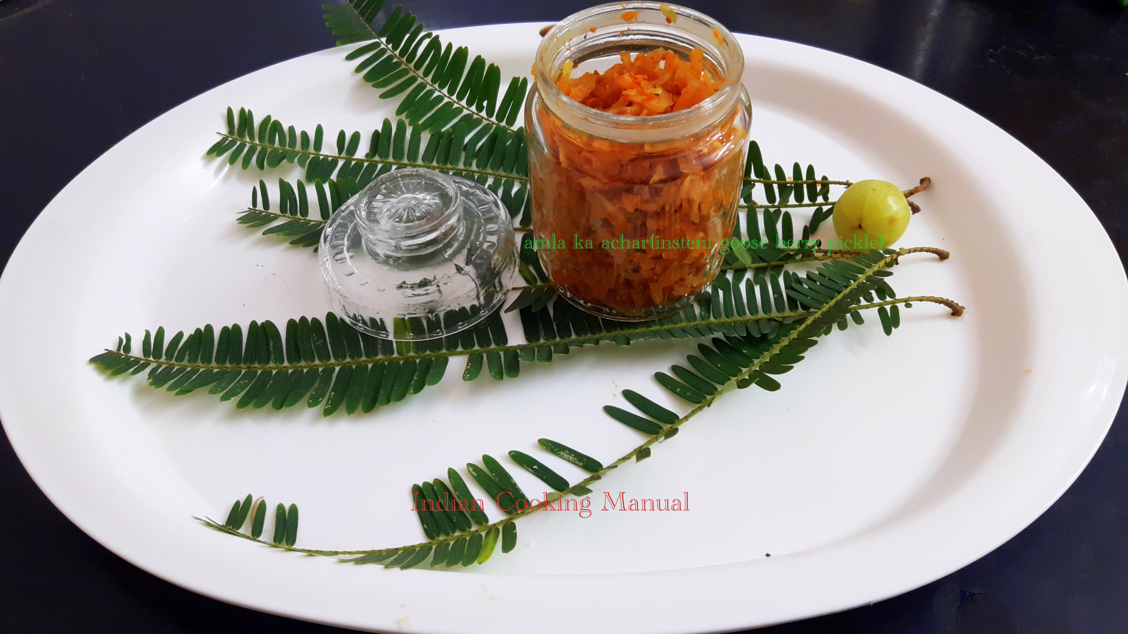 Amla ka achar (Instant goose berry pickle)