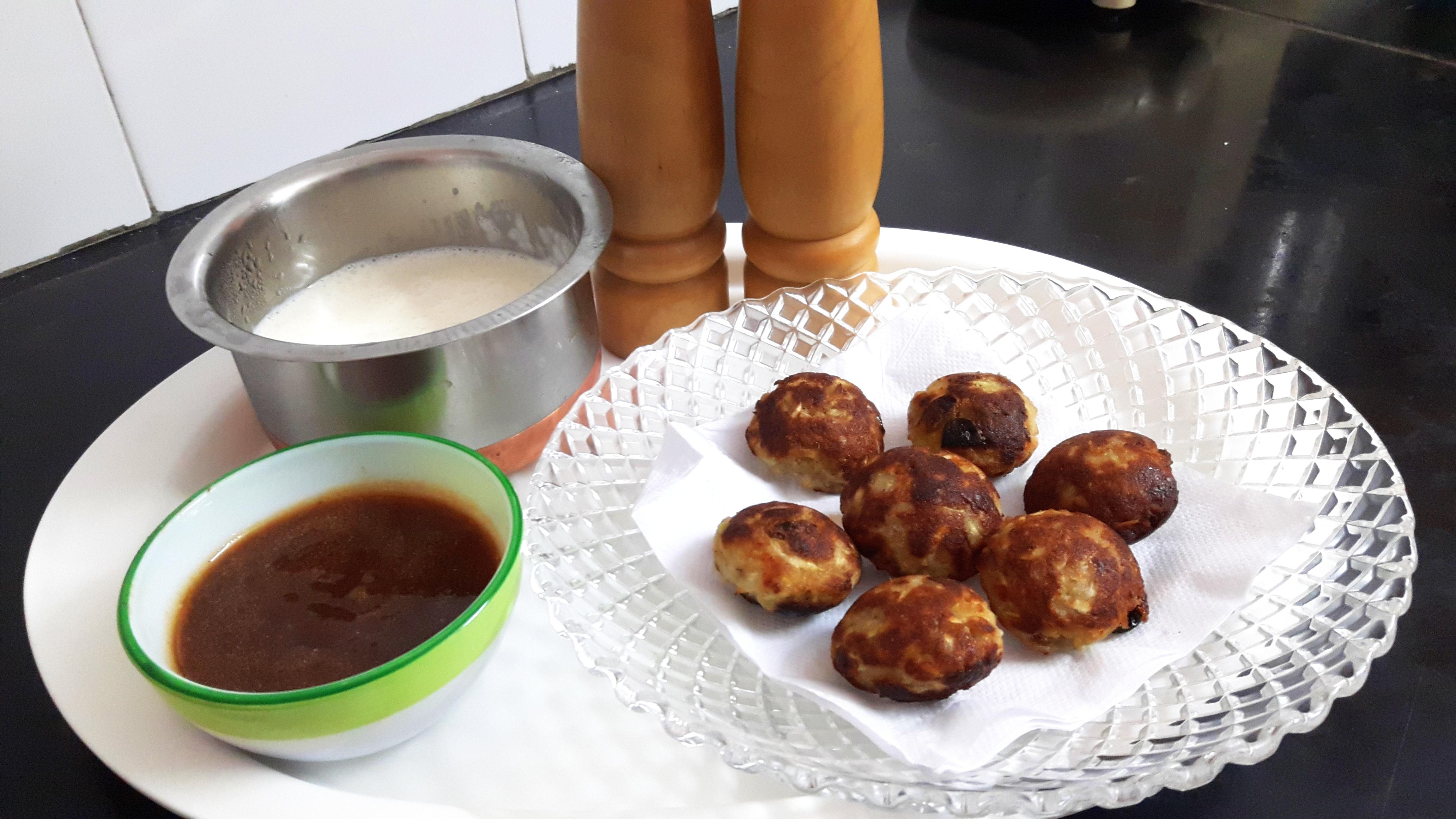Paniyaram fritters are ready