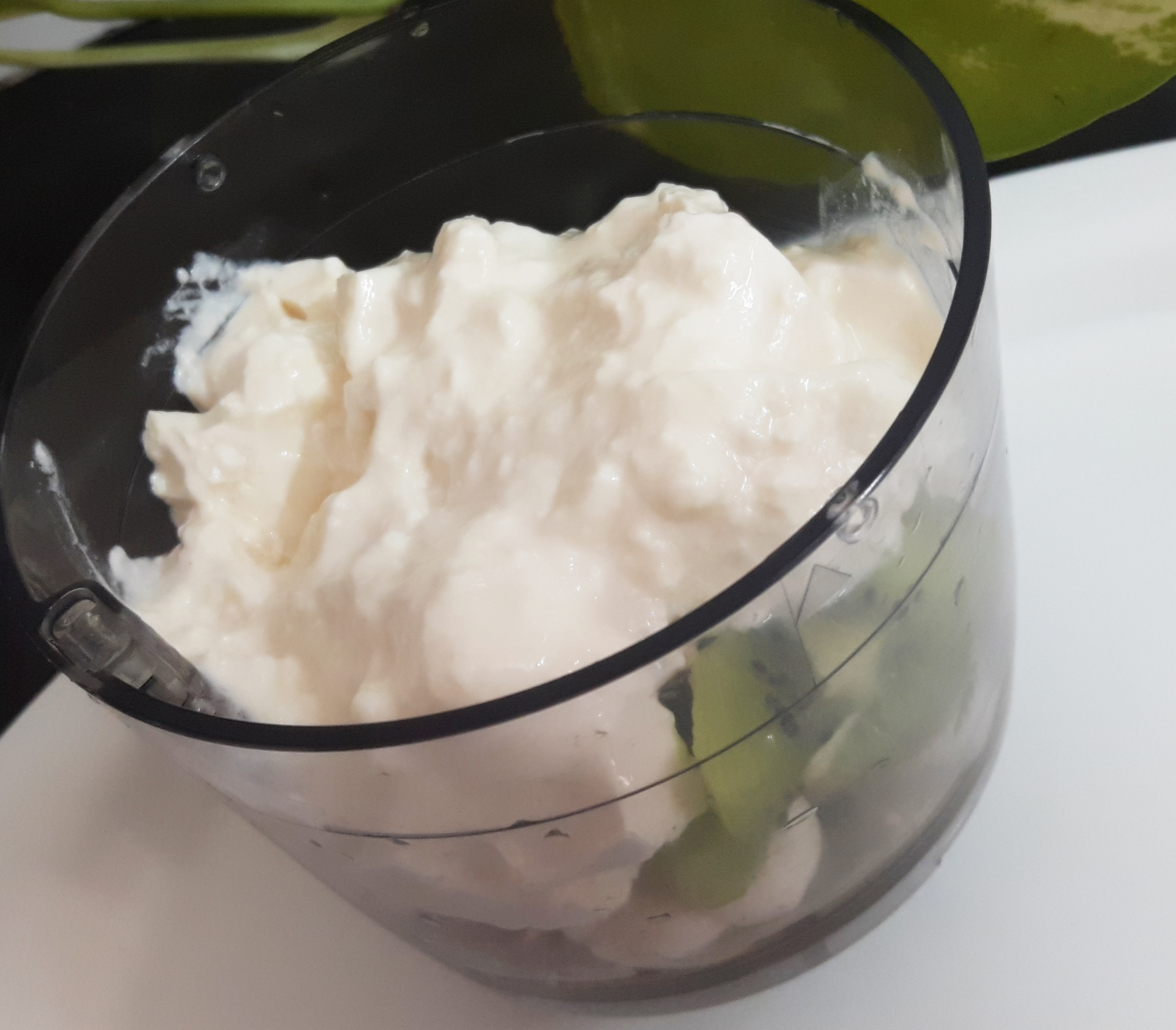 put chopped kiwi and banana along with all ingredients