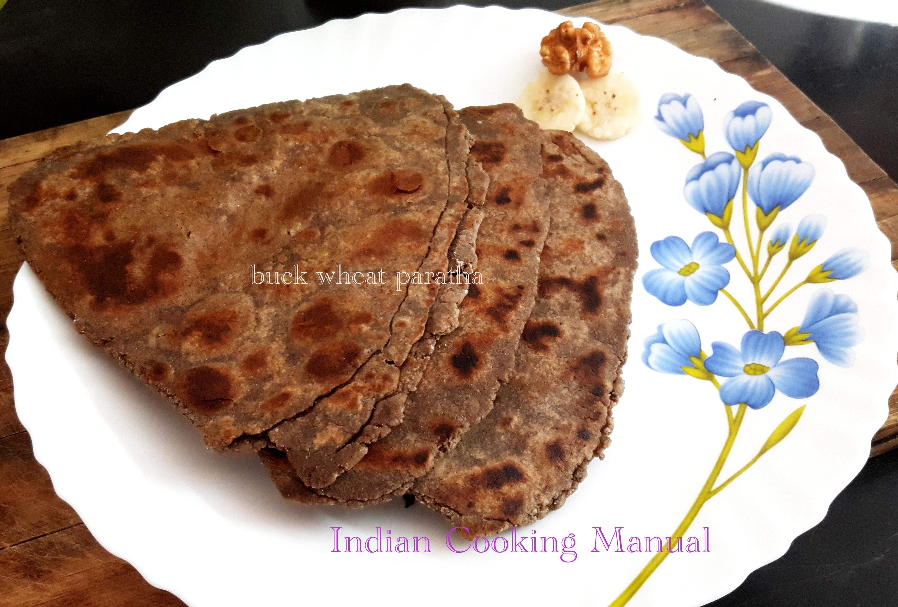 Kuttu (buck wheat) ka paratha