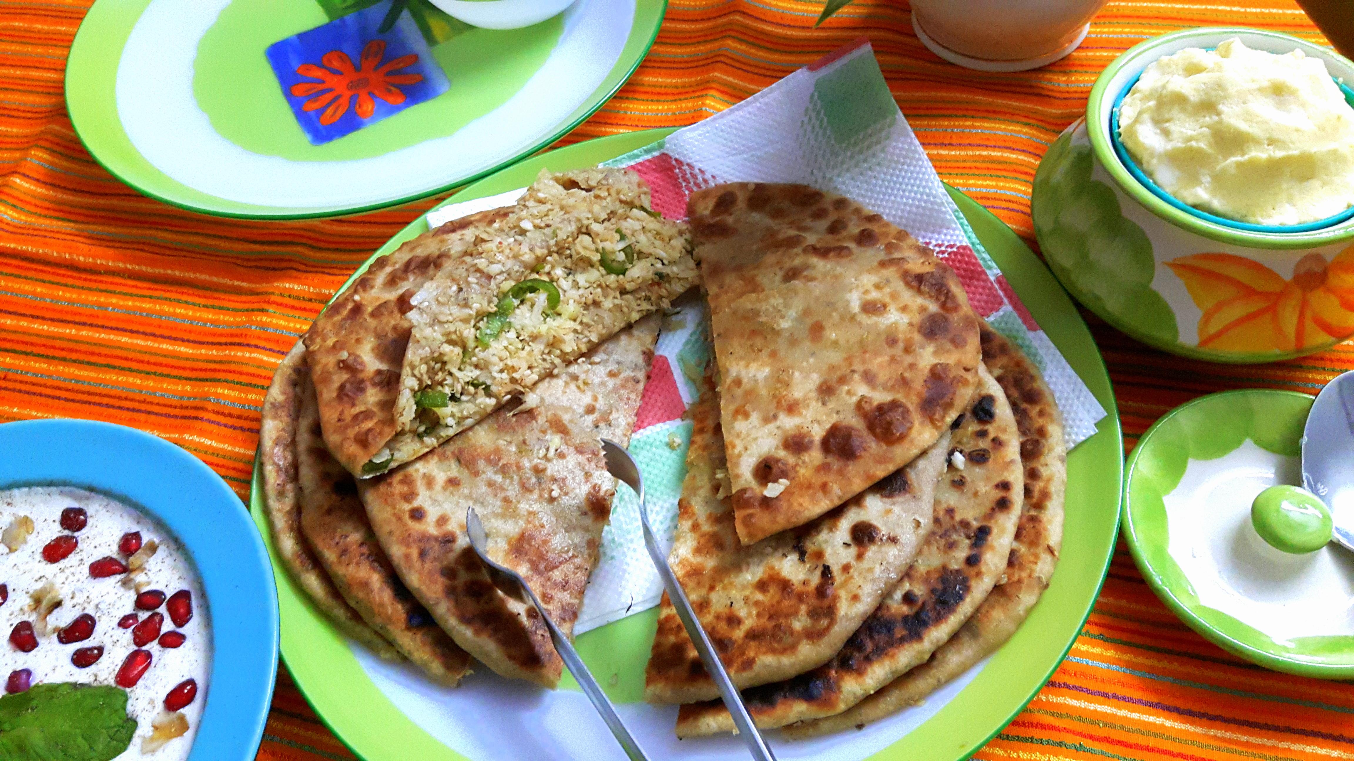Gobhi stuff paratha (cauliflower paratha)