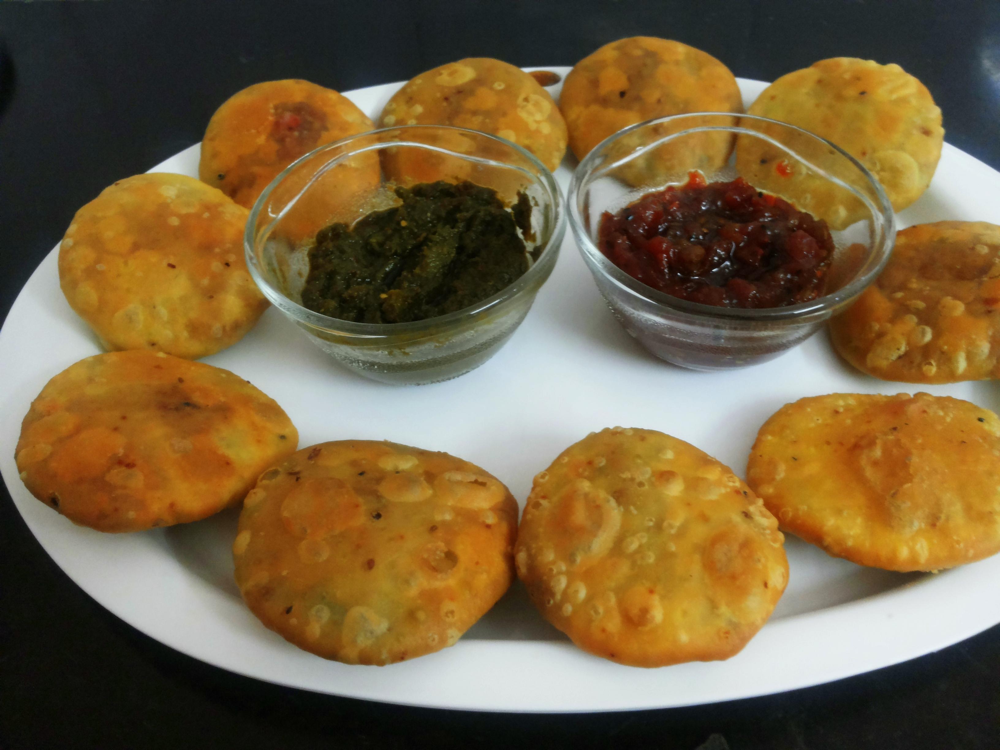 Sattu (roasted gram flour) ki Kachori