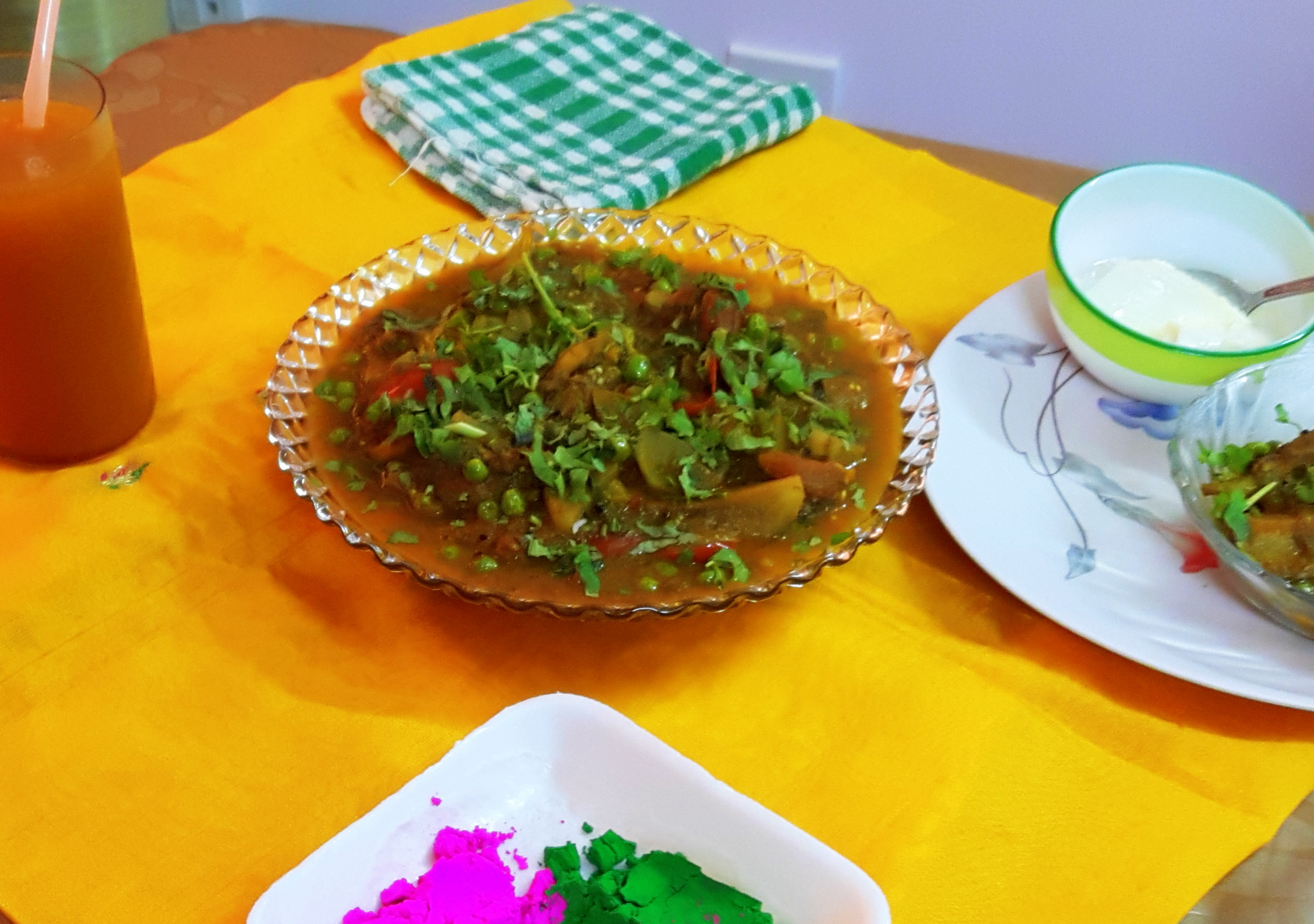 Satarangi sabji (mixed vegetables)