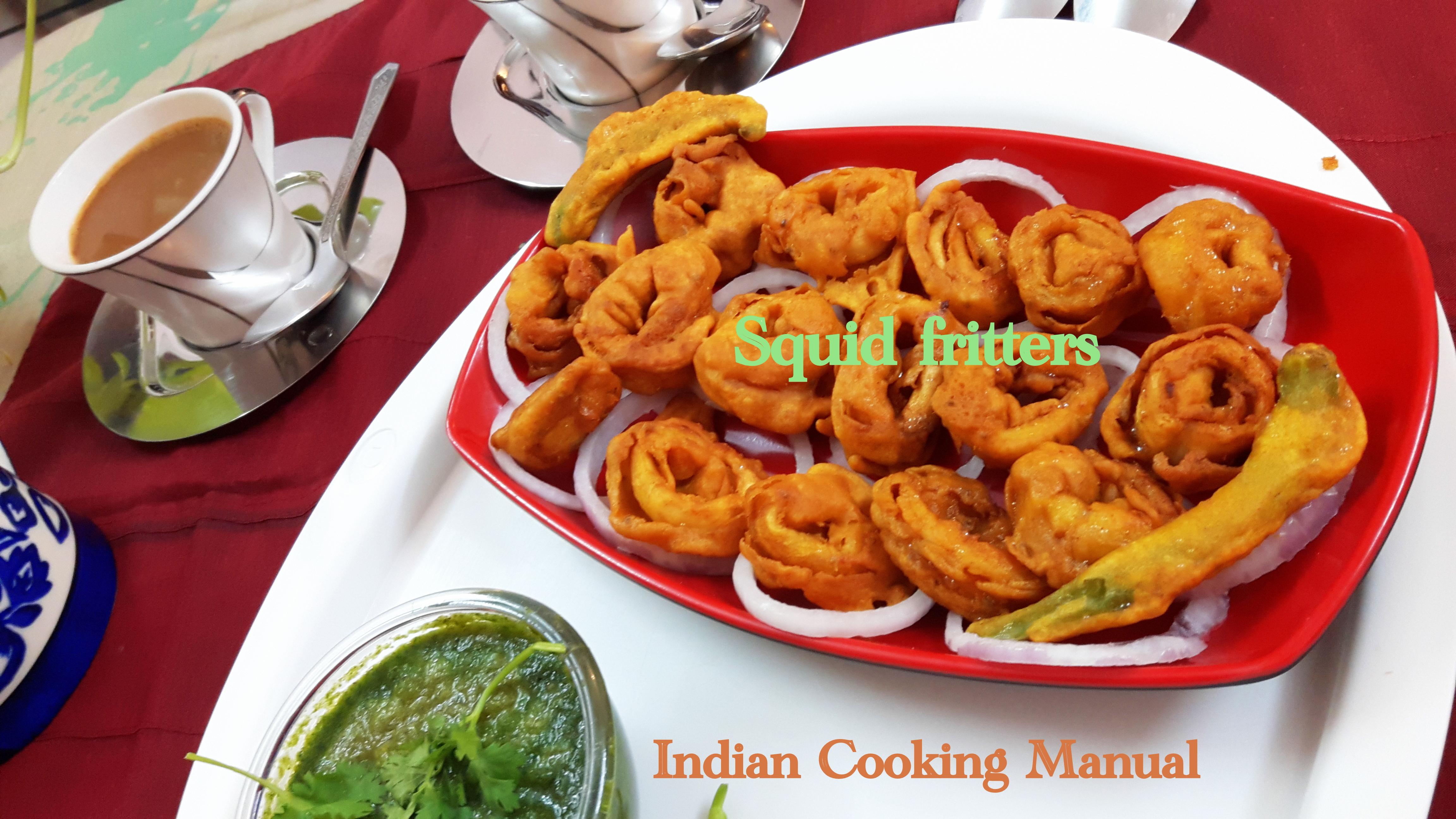Squid fritters (kanava fish pakora/pakoda)