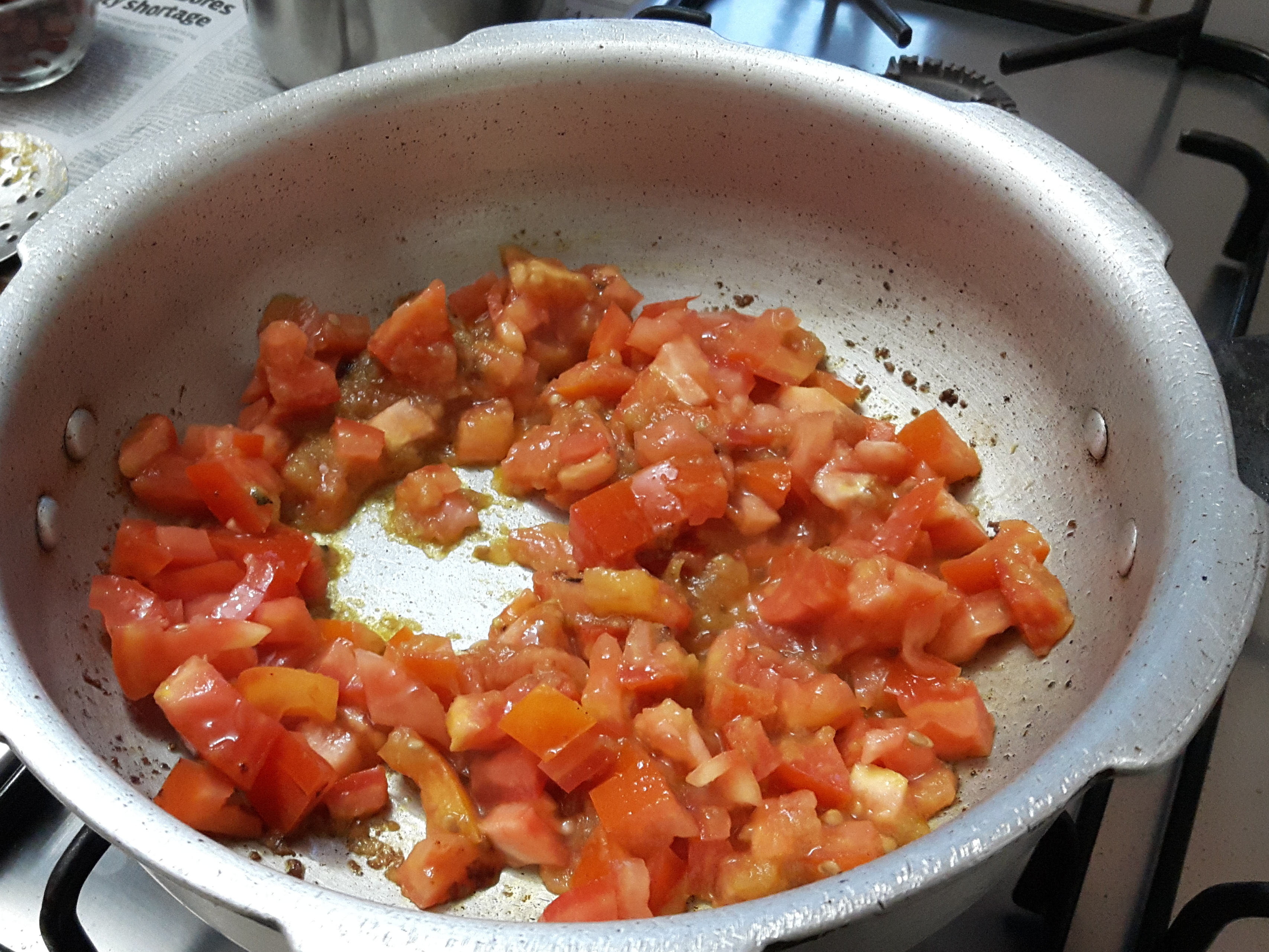 add chopped tomatoes