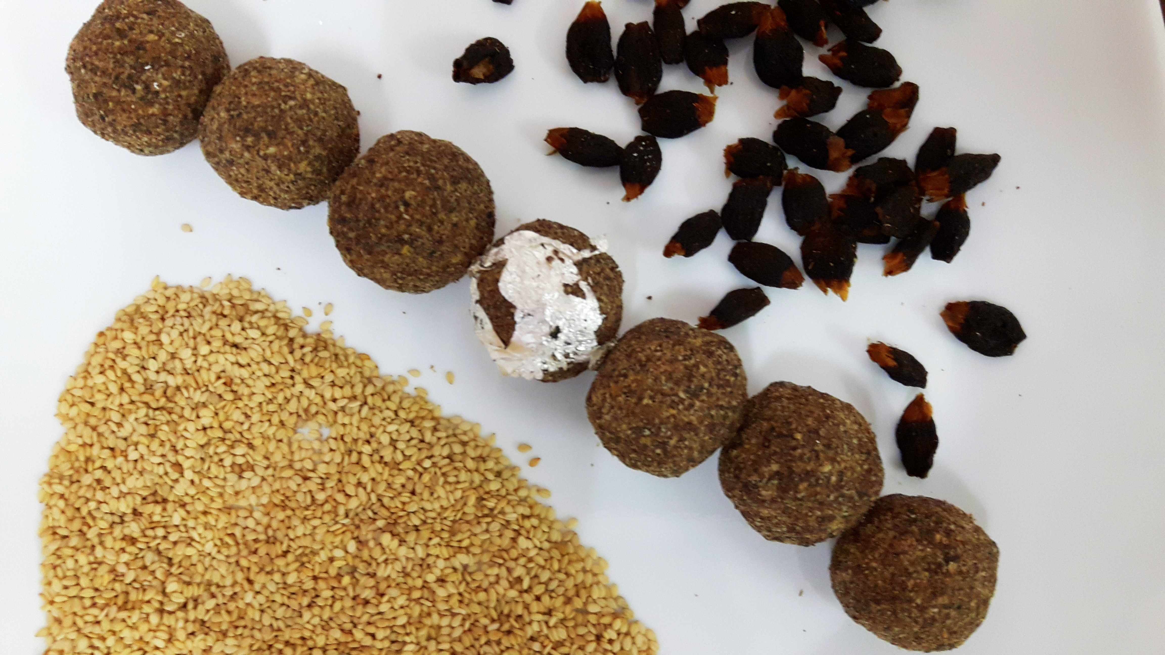 Mahua and til ka laddu ((Madhuca longfolia and sesame seed ball)