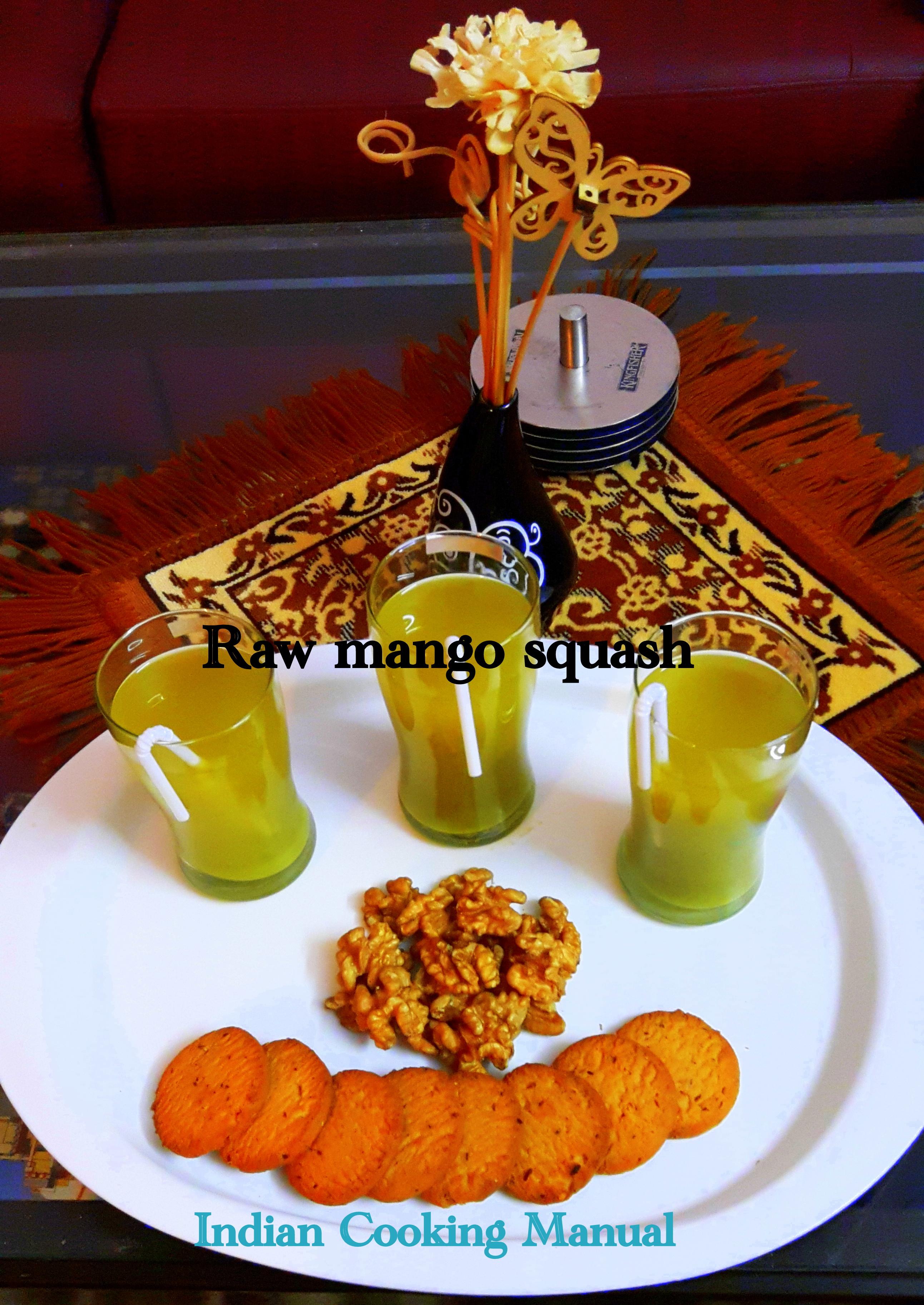 Raw mango squash